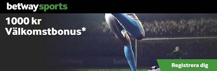 Bra oddsbonus på Betway Sports