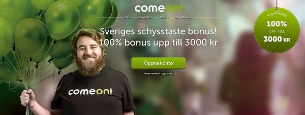 ComeOn – Den stora oddsbonusen är tillbaka