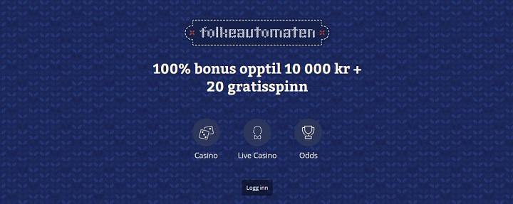 Folkeautomaten odds og casino til nordmenn