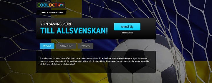 Vinn säsongskort till Allsvenskan hos Coolbet